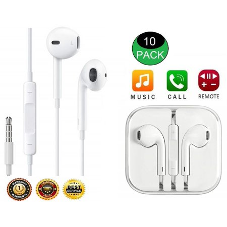 10-Pack Headphones Earphones Earbuds With Remote & Mic For Apple iPhone 6S 6 5 5S - Zune Headphone Review