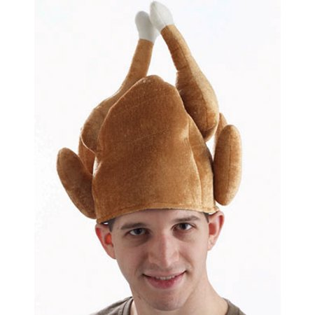 Plush Roasted Turkey Thanksgiving Hat Leg Tipped  Costume Party Cap](Thanksgiving Turkey Hat)