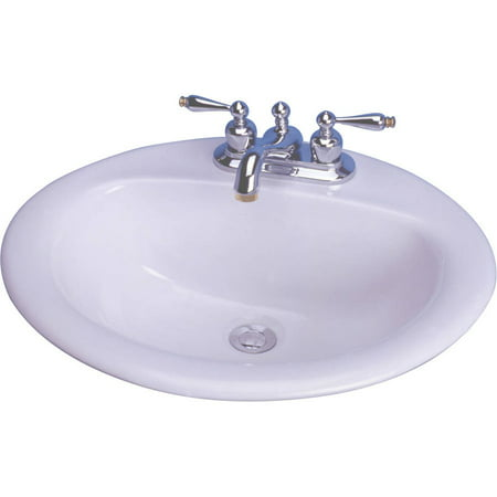 cascadian sanitary ware 20 x 17 white oval victor drop in lavatory sink