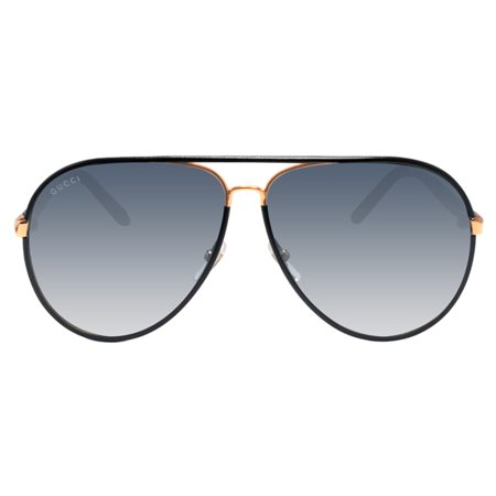 bdecd4e696be1 GUCCI - Gucci GG2887 UZA Black Leather Gold Gray Sunglasses 61mm -  Walmart.com