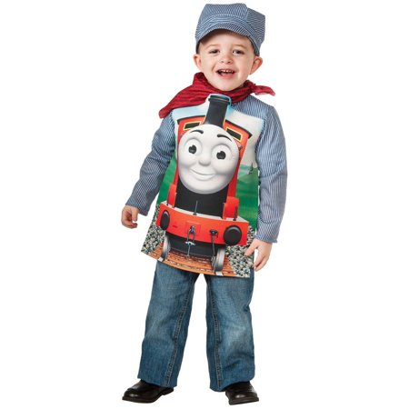 Thomas The Tank Deluxe Percy Toddler Halloween Costume, 3T-4T - Tank Top Halloween Costume