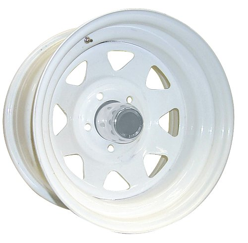 "Pro Comp Steel Wheels Series 82 Wheel with Gloss White Finish (15x8""/5x5.5"")"