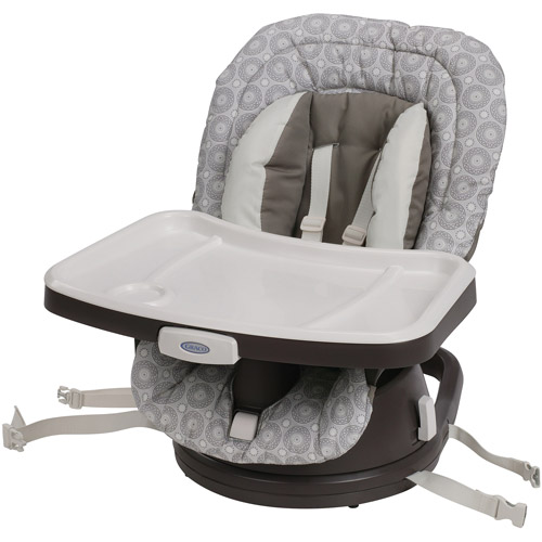 Graco SwiviSeat 3-in-1 High Chair Booster Seat, Abbington