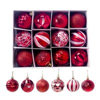 Christmas Tree Hanging Decoration 12PCS Plastic Xmas Ball Festive Decor