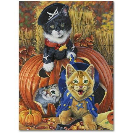 Trademark Fine Art 'Halloween Kittens' Canvas Art by Jenny Newland](Halloween Art Printables)