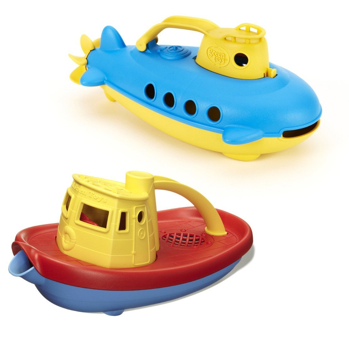 Green Toys Submarine & Tug Boat Bath Toys by Green Toys