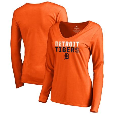 Detroit Tigers Long Sleeve (Detroit Tigers Fanatics Branded Women's Fade Out Long Sleeve T-Shirt - Orange )