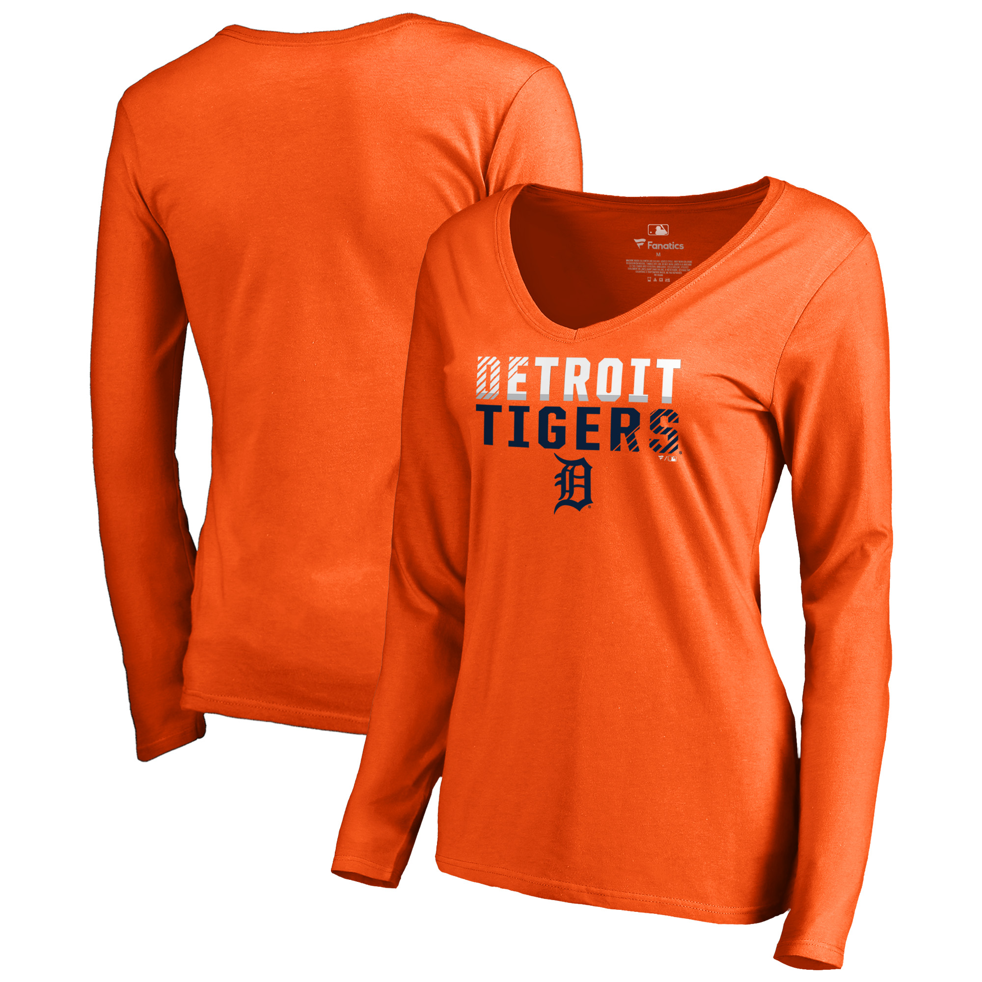 Detroit Tigers Fanatics Branded Women's Fade Out Long Sleeve T-Shirt - Orange