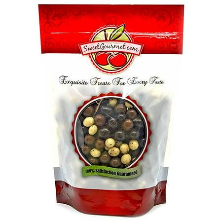 Sweetgourmet Chocolate Covered Espresso Beans Blend   White  Milk   Dark Chocolate  1Lb