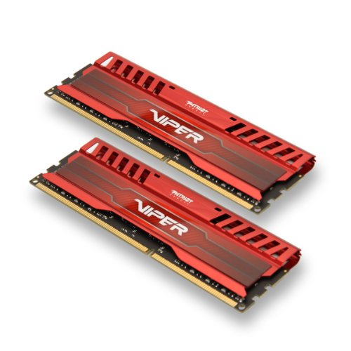 Patriot 8GB(2x4GB) Viper III DDR3 1866MHz (PC3 15000) CL9 Desktop Memory With Red Gaming Heatsink- PV38G186C9KRD