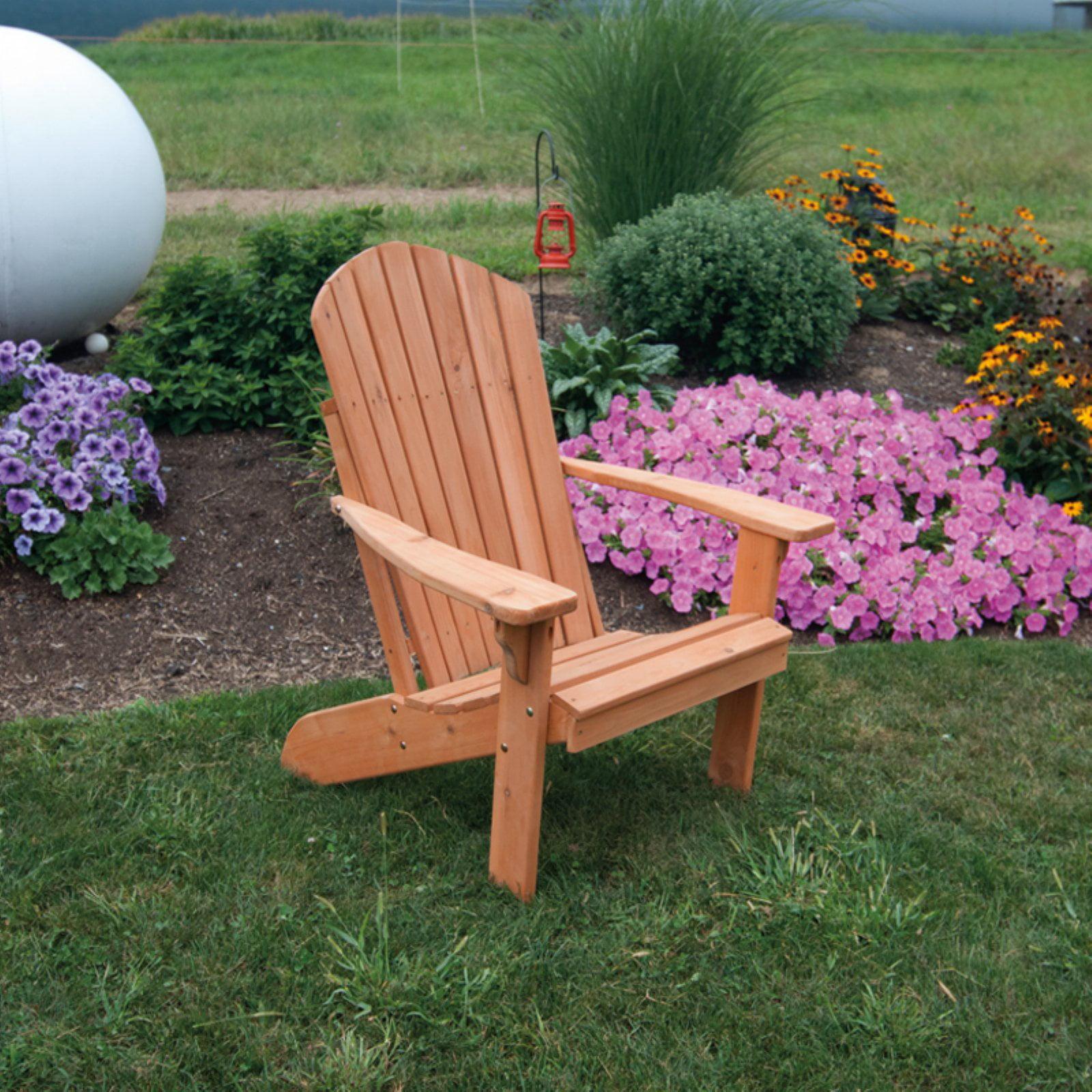 A & L Furniture Western Red Cedar Fanback Adirondack Chair by A and L Furniture Co