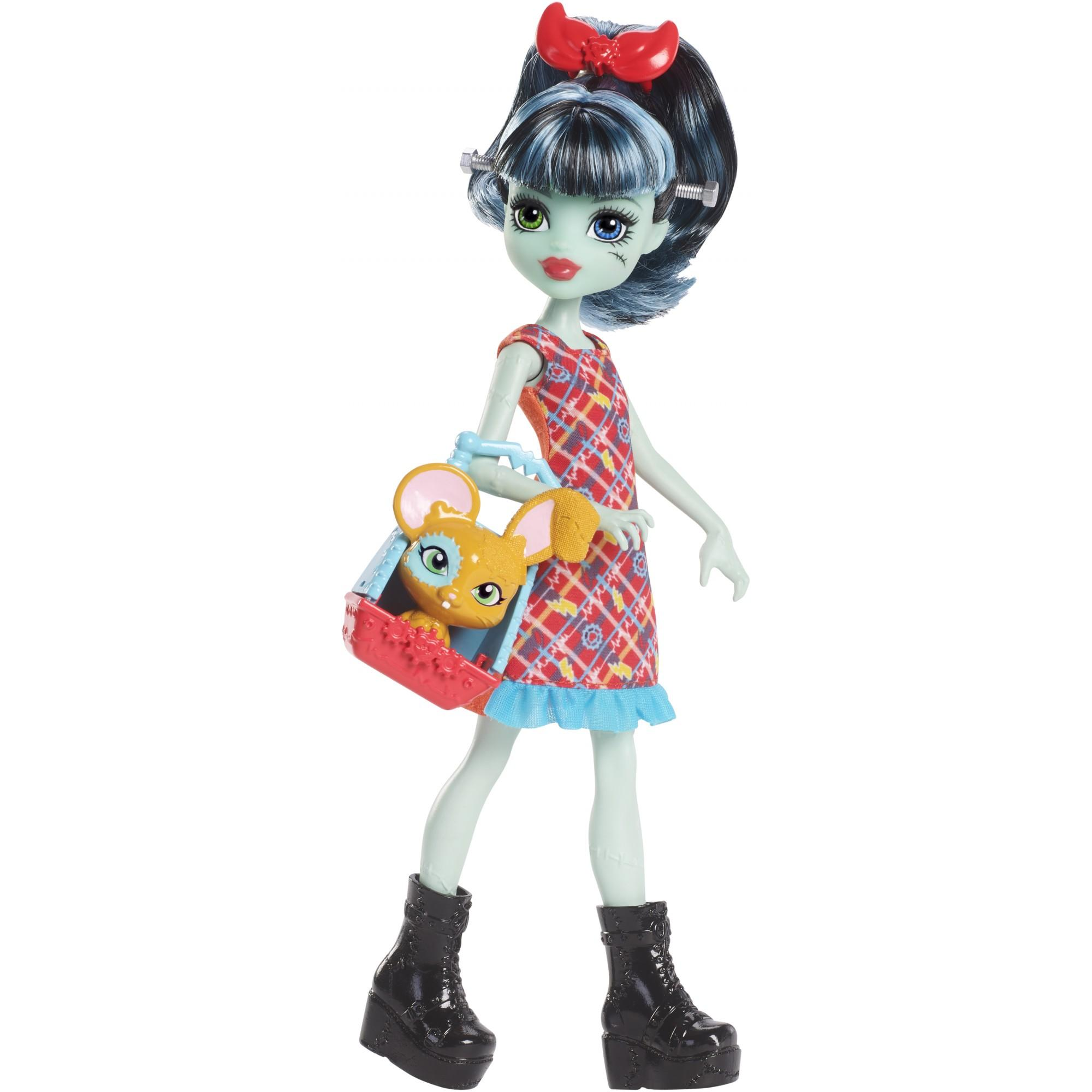 Monster High Monster Family Alivia Stein & Gigawatt Doll + Pet