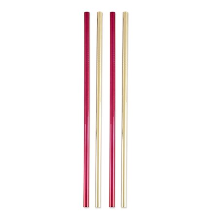 Rustic Holiday: Assorted Stainless Steel Cocktail Straws - Holiday Straws
