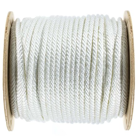 Golberg Solid Braid Black or White Nylon Rope 1/8-inch, 3/16-inch,  1/4-inch, 5/16-inch, 3/8-inch, 1/2-inch - Various Lengths