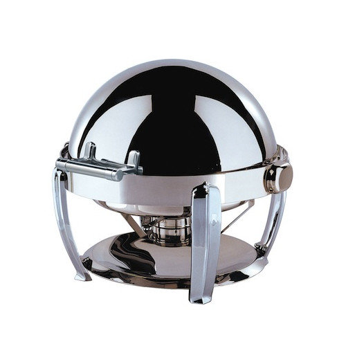 SMART Buffet Ware Medium Odin Round Roll Top Chafing Dish with Chrome Plated Legs
