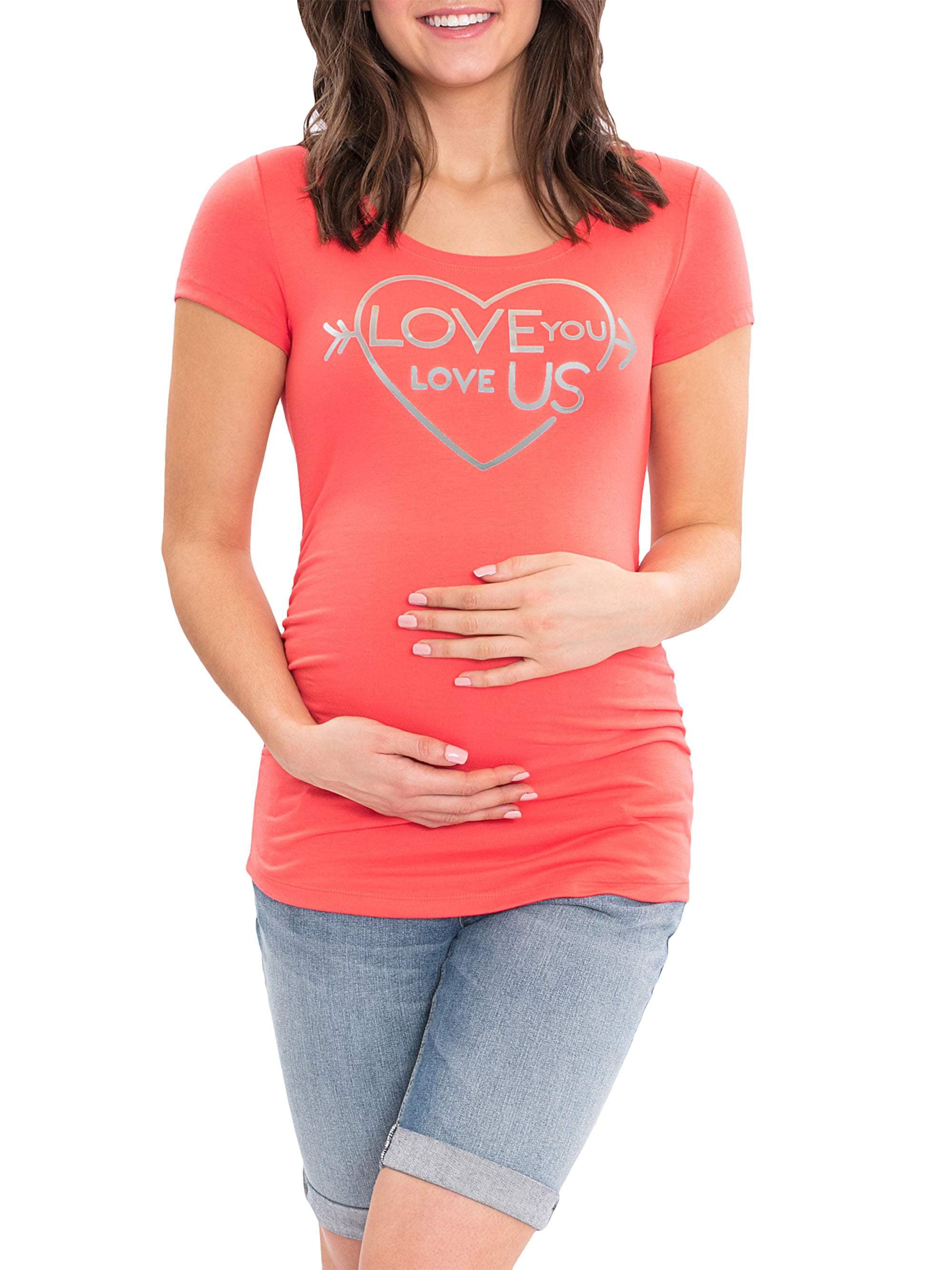 Maternity Short Sleeve Scoop Neck Tshirt by Garan Mfg. Corp.