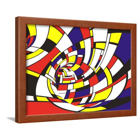 Abstract 3d Mondrian Style Framed Print Wall Art By Ferfer