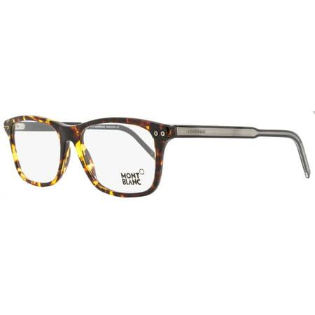 c12965eb35 Montblanc Rectangular Eyeglasses MB621 A56 Size  55mm Tortoise Black 621 -  Walmart.com