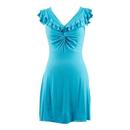 Ruffled Top V-Neck Sleeveless Casual Dress