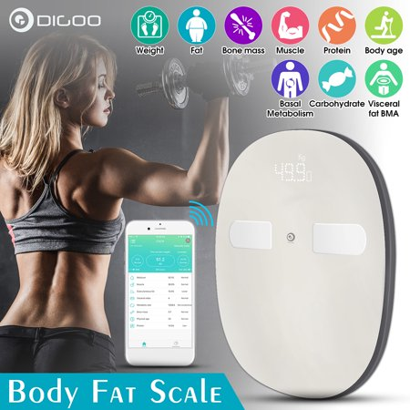 Digoo Digital Body Scale, Smart Family Body Scale, Body Fat Scale Manage Weight, Body Fat, Water, Muscle Mass, BMI ()