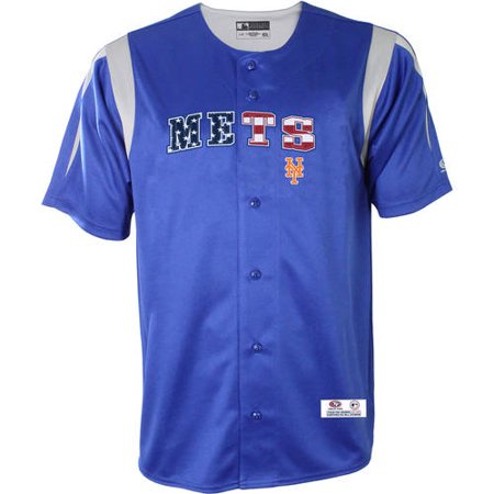 new product 50011 93fe0 MLB New York Mets Men's Button Down Jersey