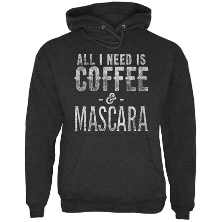 I Need A Good Costume For Halloween (All I Need Is Coffee and Mascara Mens Hoodie Charcoal Heather)