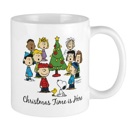 CafePress - The Peanuts Gang: Christmas Is Here Mug - Unique Coffee Mug, Coffee Cup CafePress ()