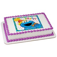Sesame Street Cookie Monster Edible Icing Image for 8 inch round cake
