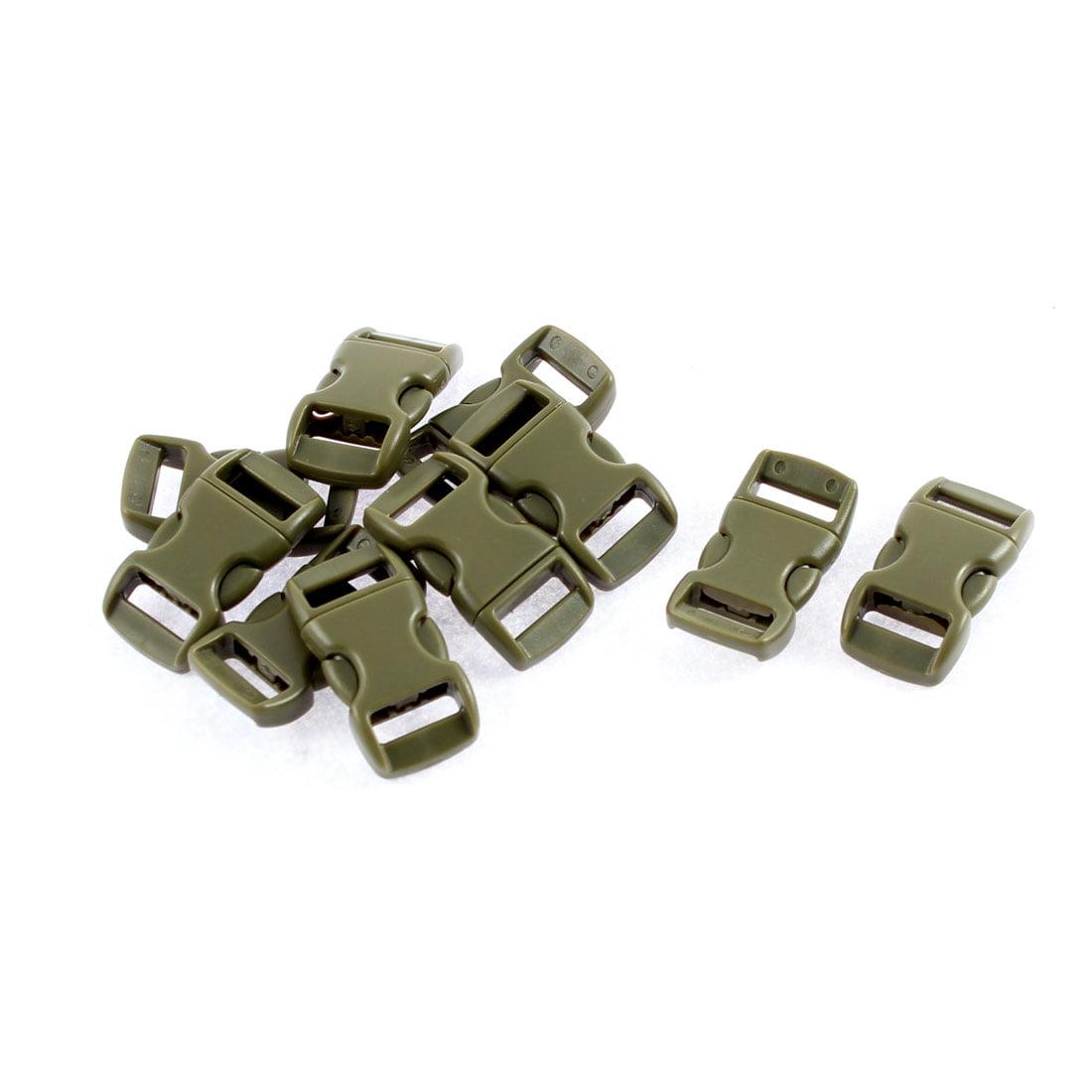 Plastic Quick Side Release Buckles 11mm Webbing Strap 10Pcs