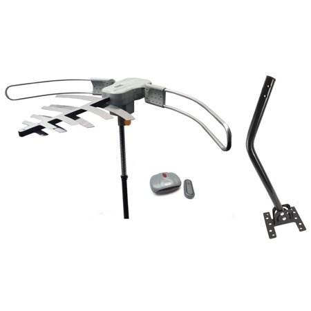 Boostwaves Premium HDTV Long Range Digital TV Antenna - Powered for Maximum Distance Over the Air TV Stations - Includes Roof Mounting J-Pole ()
