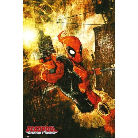 Marvel Extreme - Deadpool Gun Poster - 24x36 - Deadpool Posters