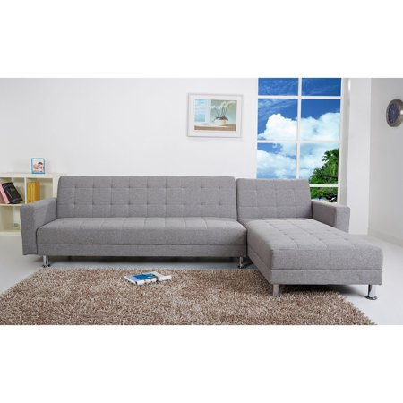 Gold Sparrow Frankfort Fabric Convertible Sectional (Sectional Form)