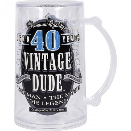 Creative Converting Vintage Dude 40th Birthday Tankard - Vintage 40th Birthday Decorations