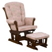 Cotton Tale Designs Nightingale Floral Glider with Ottoman