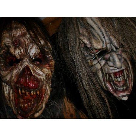 Krampus Masks (LAMINATED POSTER Masks Krampus Tuifl Horror Creepy Evil Austria Poster Print 24 x)