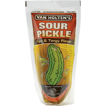 Van Holten's Jumbo Sour Pickle Individually Packed in a Pouch Pack of (Best Made Sour Pickles)