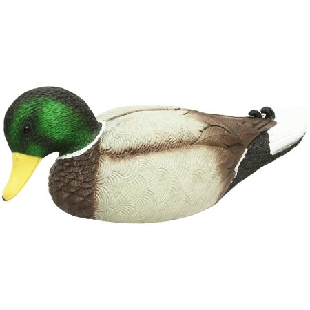 MOJO Outdoors Mojo Rippler Floating Motion Mallard Drake Duck Decoy - HW2443 Magnum Weighted Keel Mallard Duck