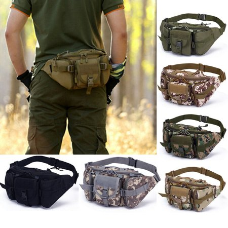 Utility Tactical Waist Pack Pouch Military Camping Hiking Outdoor Bag Belt