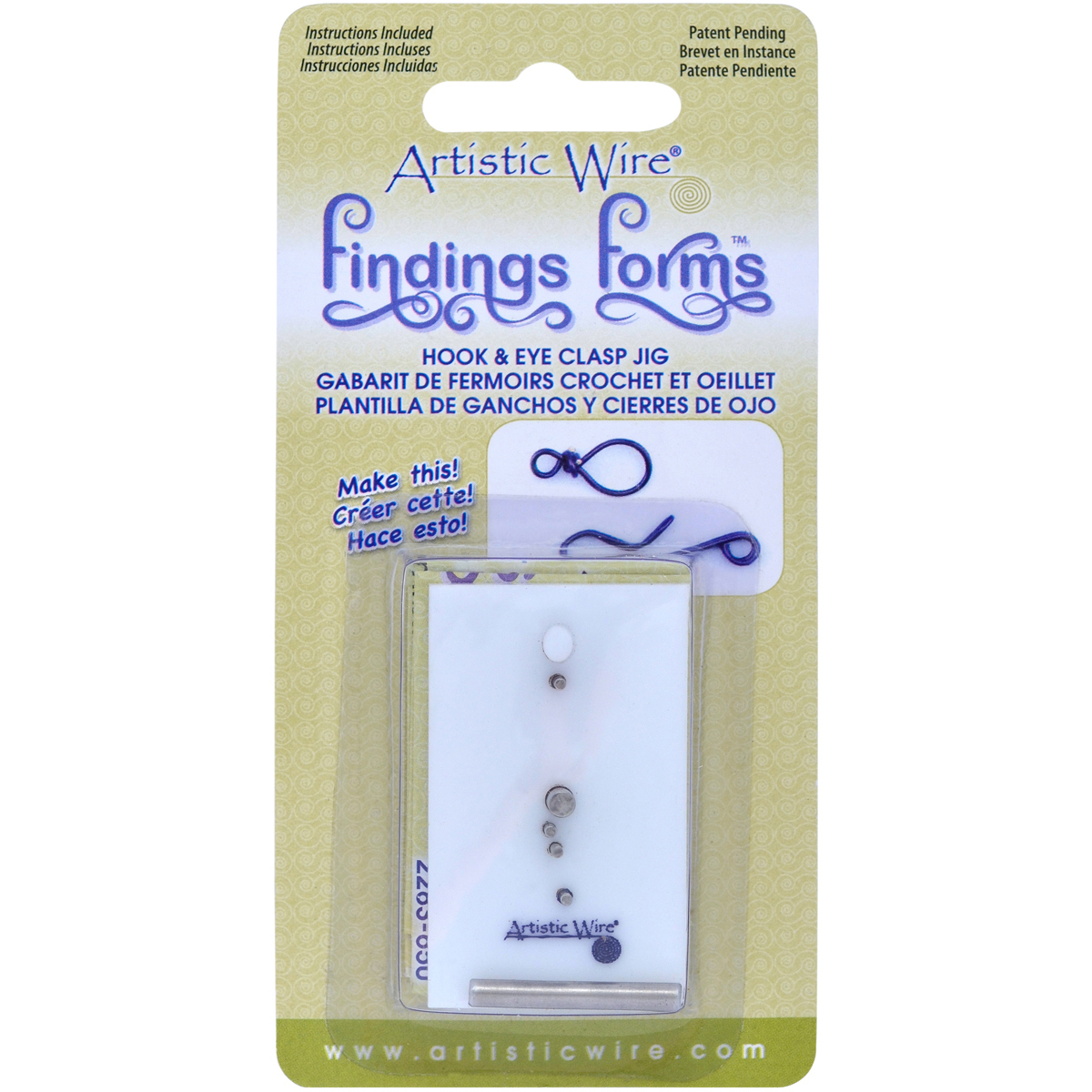 Artistic Wire Finding Forms Hook & Eye Clasp Jig