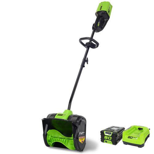 Greenworks PRO 12-Inch 80V Cordless Snow Shovel, 2.0 AH Battery Included 2600602