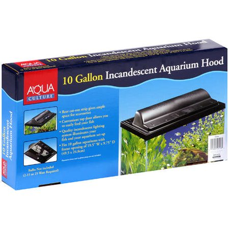 Aqua culture incandescent 10 gallon aquarium hood for 10 gallon fish tank heater