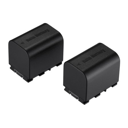 Powerextra 2-Pack 3000mAh 3.7v Replacement Battery for JVC BN-VG121, BN-VG121U, BN-VG138, BN-VG107U, BN-VG114, JVC Everio GZ-E Series Digital Camera