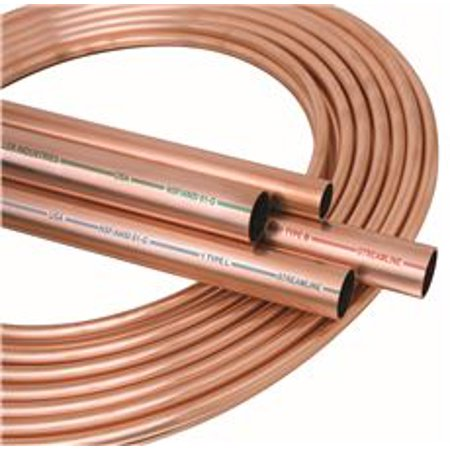 Mueller industries 1 2 od x 100 ft coil copper tubing for Copper pipe types