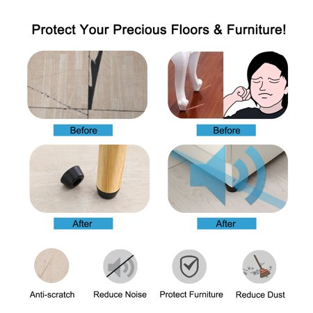 40pcs Rubber Feet Bumper Buffer Leg Pad Desk with Metal Washer, D31x24xH18mm - image 6 of 7