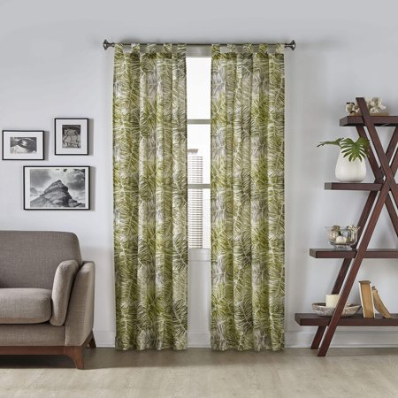 Tropical Vinyl Curtain (Pairs to Go Marley Tropical 2-Pack Window)