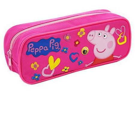 Peppa Pig Character Single Zipper Pink Pencil Case