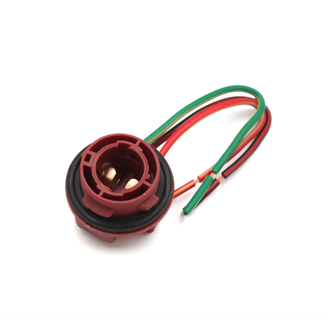 2pcs 1016 3-Wires Brake Signal Light Bulb Extension Harness Socket Connector - image 1 de 2