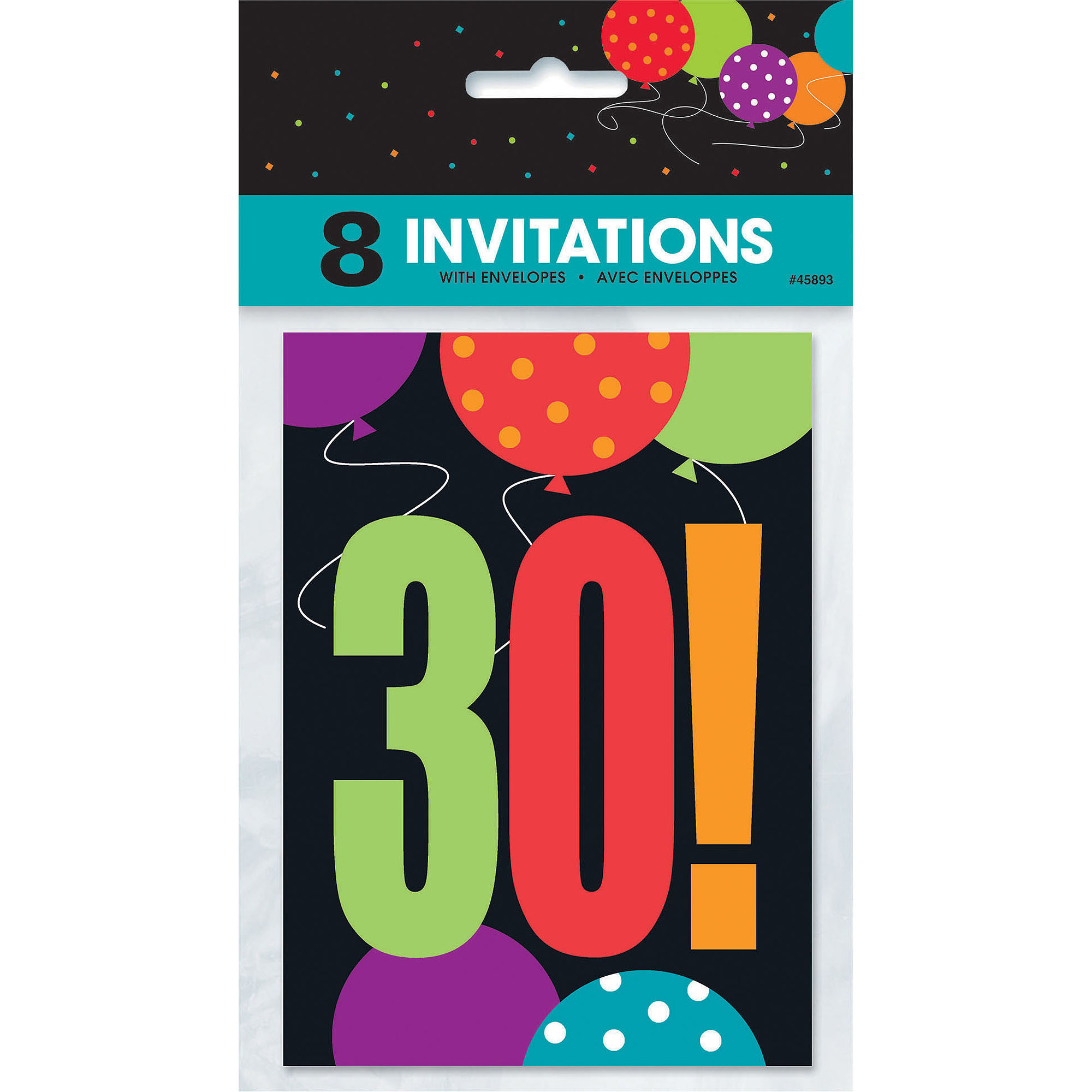 Birthday Cheer 30th Birthday Invitations, 8pk