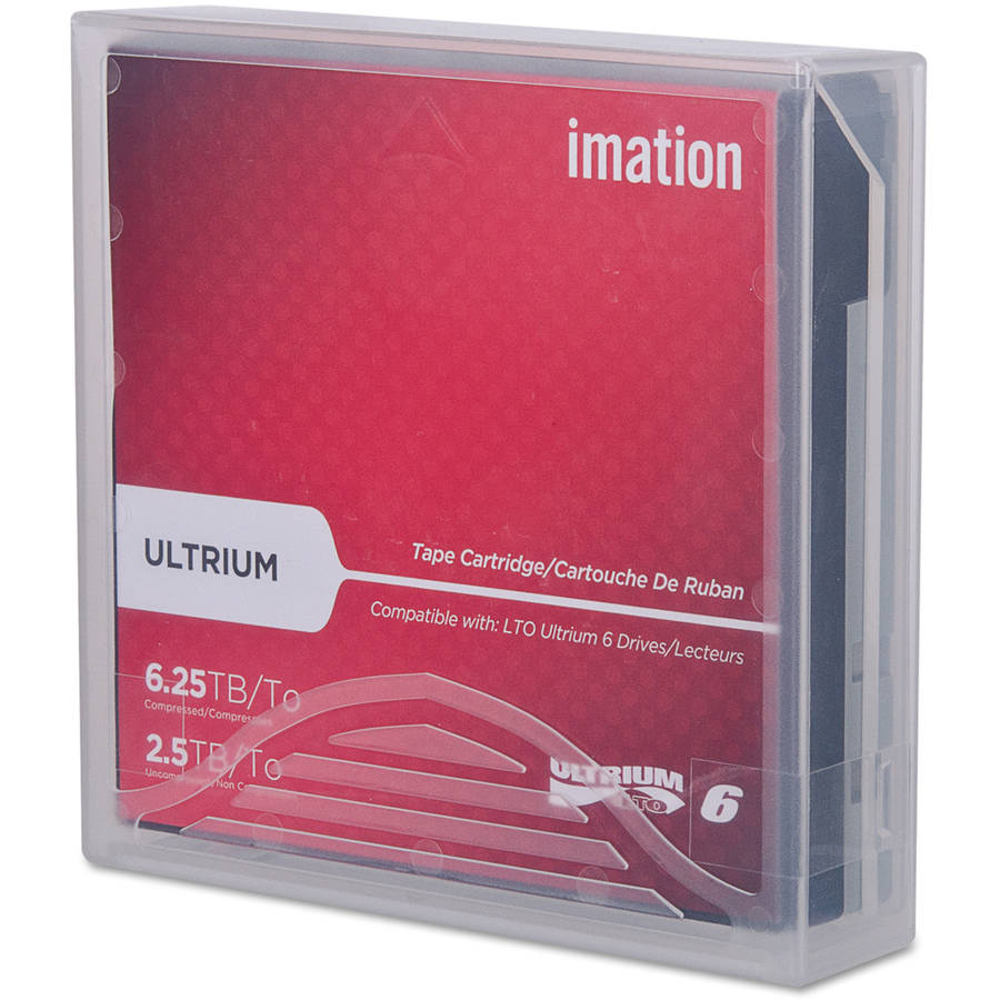 "imation 1/2"" Ultrium LTO-6 Cartridge, 2538', 2.5TB Native/6.25TB Compressed"