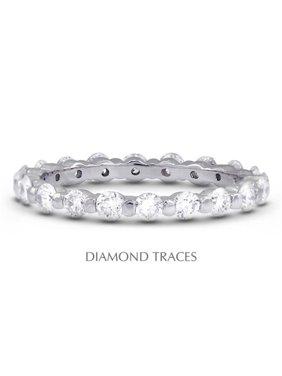 Diamond Traces UD-EWB102-9566 Platinum 950 Bar Setting 1.34 Carat Total Natural Diamonds Classic Eternity Ring